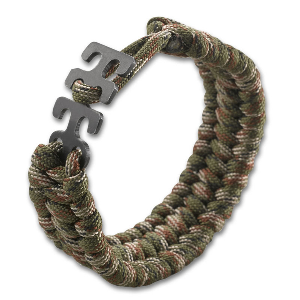 <p><big>It&#39;s a one-size-fits-all solution for varying degrees of danger.</big></p>  <p><big>Tom Stokes designed his series of adjustable paracord survival bracelets for superior lashing in small, medium and large-sized emergency situations. Available in black, camo, green, tan, pink and black, they&#39;ve got you covered no matter how big your wrist. They&#39;re also compatible with the other Stokes Paracord Survival Accessories like the Fire Starter, Compass, L.E.D. Light and Bottle Opener. Be prepared for an everyday anything.</big></p>  <p><big>In designing the Adjustable Paracord, Williamsburg, Virginia resident Tom Stokes, wanted a survival accessory that people would actually wear. Applying technology understanding from his years in the aerospace industry, Stokes creates tools with a rare balance of artistic form and function, and the flat, low profile, comfortable weave pattern of the Adjustable Paracord Bracelet ensures that it will fit almost anyone, securely but not too tightly, while still being stylish.</big></p>  <p><big>The bracelet features a uniquely designed easy-to-use latch system that comfortably fits wrists anywhere from 7 to 8 inches in size, to avoid loose fittings and danger of snags. It&#39;s a dialed-in bracelet that works for every owner. And now, when danger calls, you have 9.5 feet of paracord at the ready for cinching logs together, tying things down, or for whatever other survival tactics you&#39;ll need to execute with it.&nbsp;</big></p>  <p><big>Dimensions</big></p>  <p><big>Open Overall Length&nbsp;&nbsp; &nbsp;9 inches<br /> Weight&nbsp;&nbsp; &nbsp;0.9 ounces</big></p>  <p><big>Options</big></p>  <p><big>Includes 1&nbsp;&nbsp; &nbsp;Approx. 9.5 ft. Paracord</big></p>