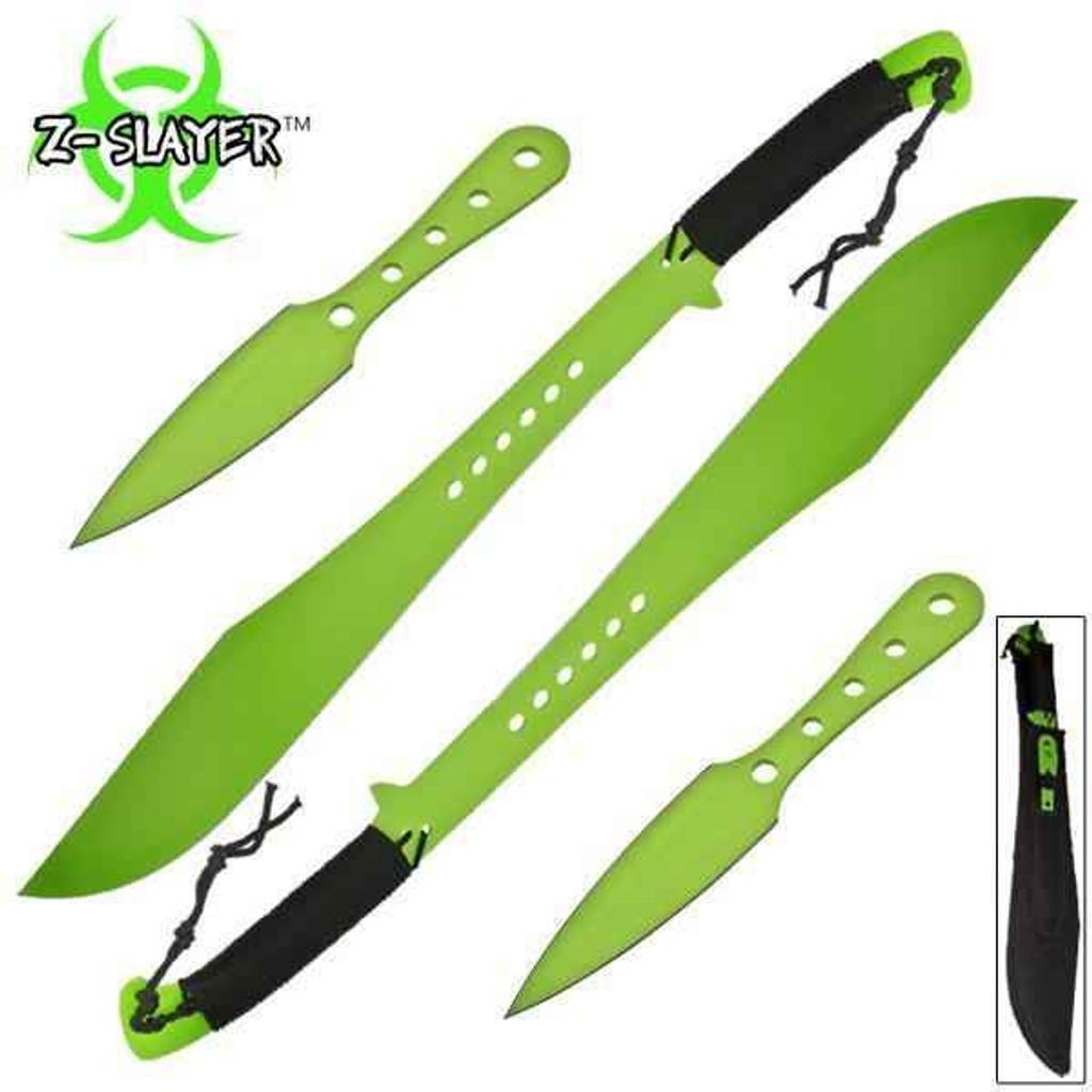 Knockout Knucks Z-Slayer Dual Sword Throwing Knife 4-PC Set 1