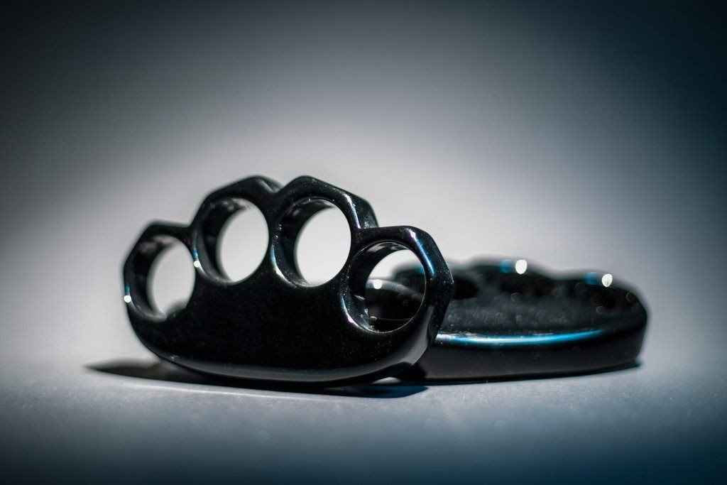 Knockout Knucks Stealth Black Lexan Knuckles