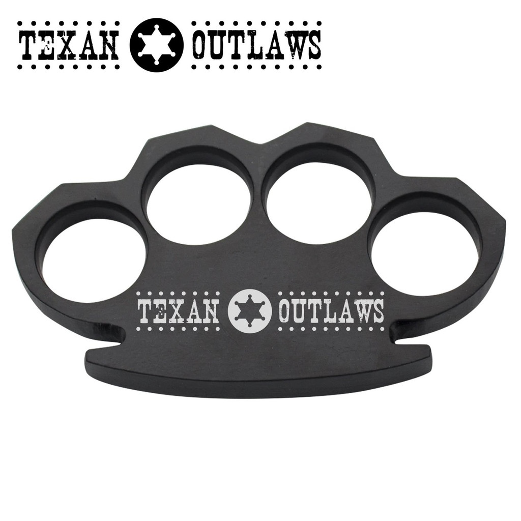 Texas Outlaws Steam Punk Black Solid Metal Paper Weight