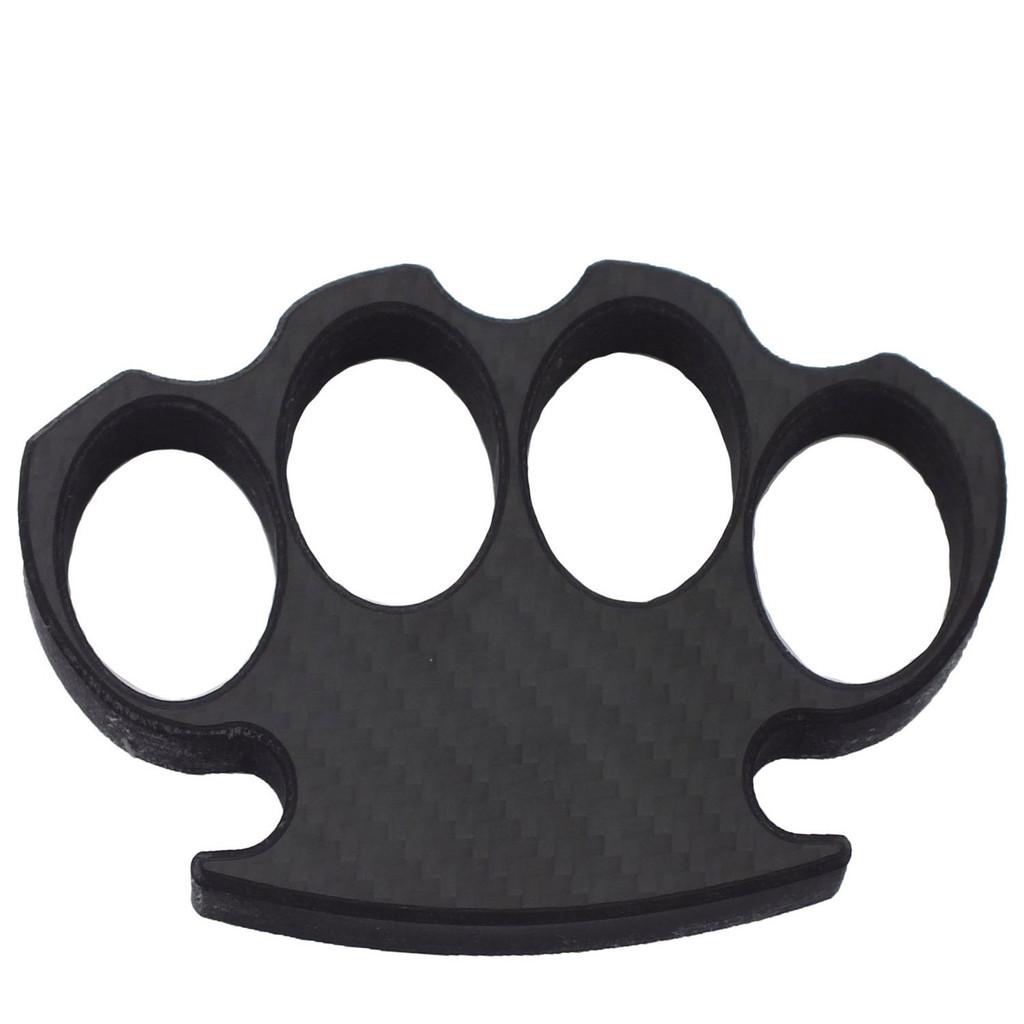 Black Carbon Fiber Brass Knuckle