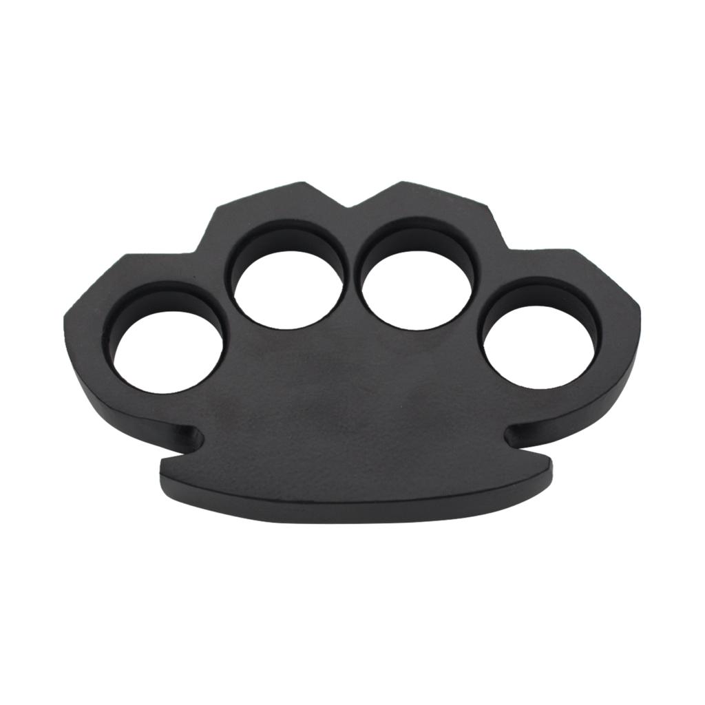 Knockout Knucks Steam Punk Solid Black Steel Paper Weight 600 Grams