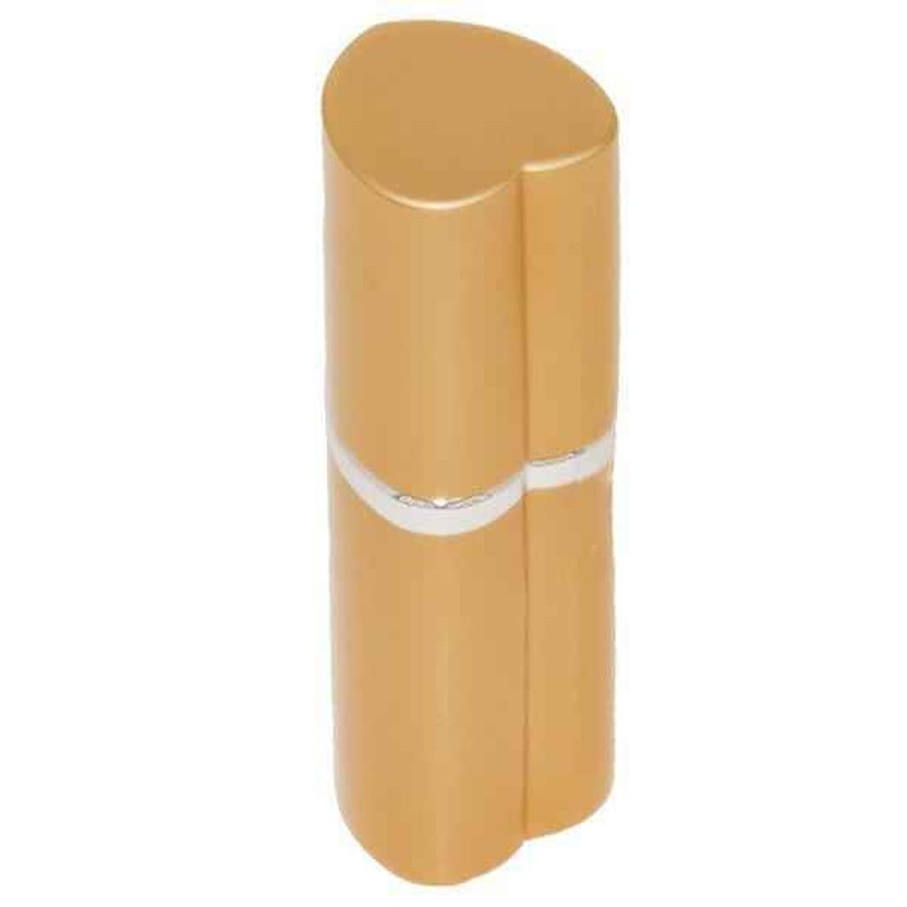 Knockout Knucks Heart Perfume Bottle Pepper Spray - Police Strength - Gold
