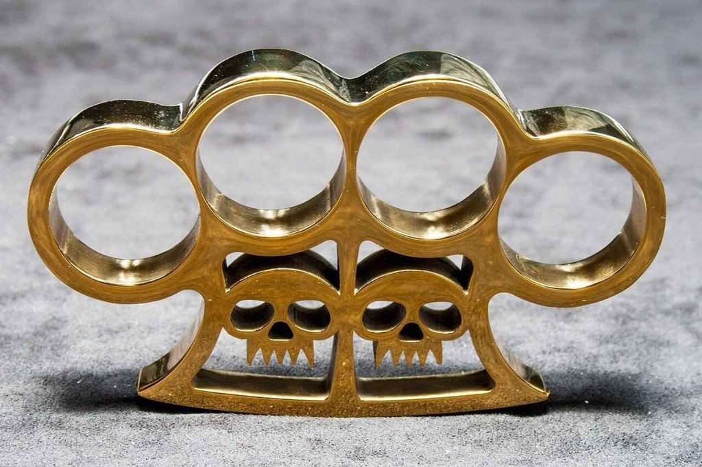 Knockout Knucks Slash and Burntm Real Brass Knuckles