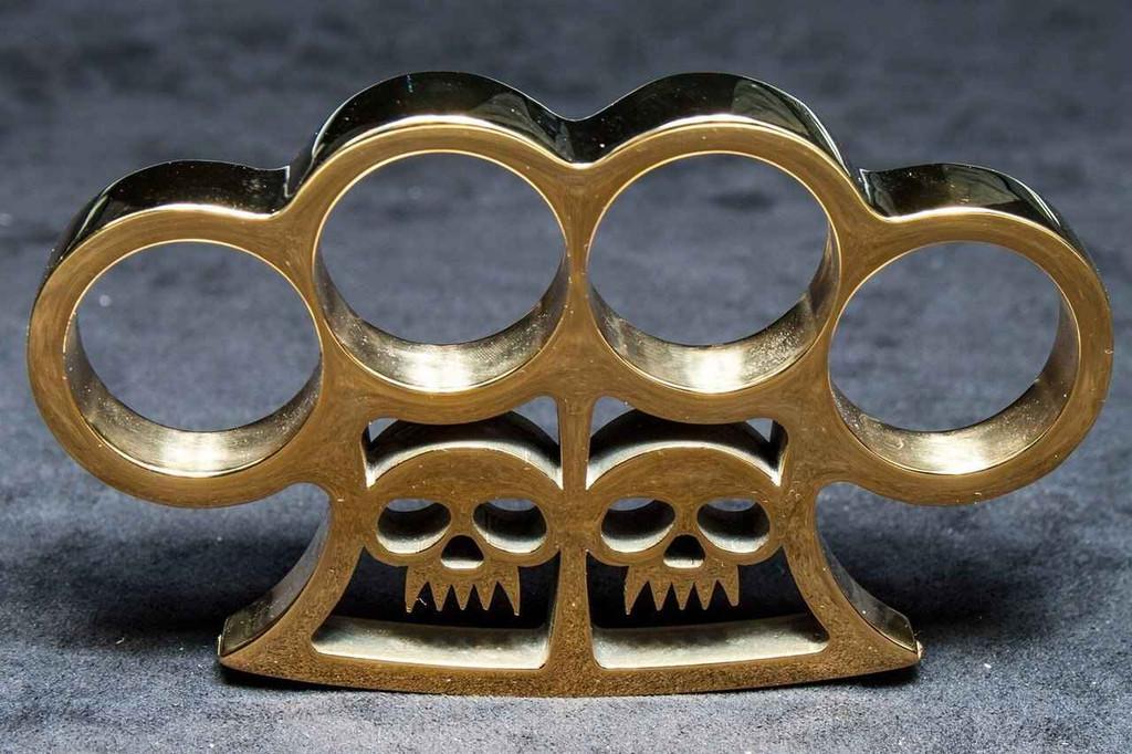 Knockout Knucks Slash and Burntm Real Brass Knuckles