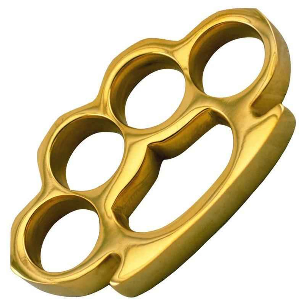 Knockout Knucks The Commander - Real Gold Plated Brass Knuckles