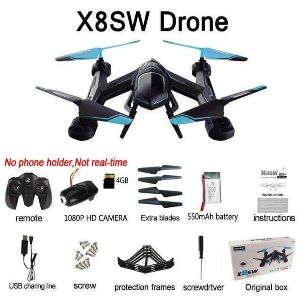 Knockout Knucks X8SW Professional Quadcopter 2.4G HD Drone
