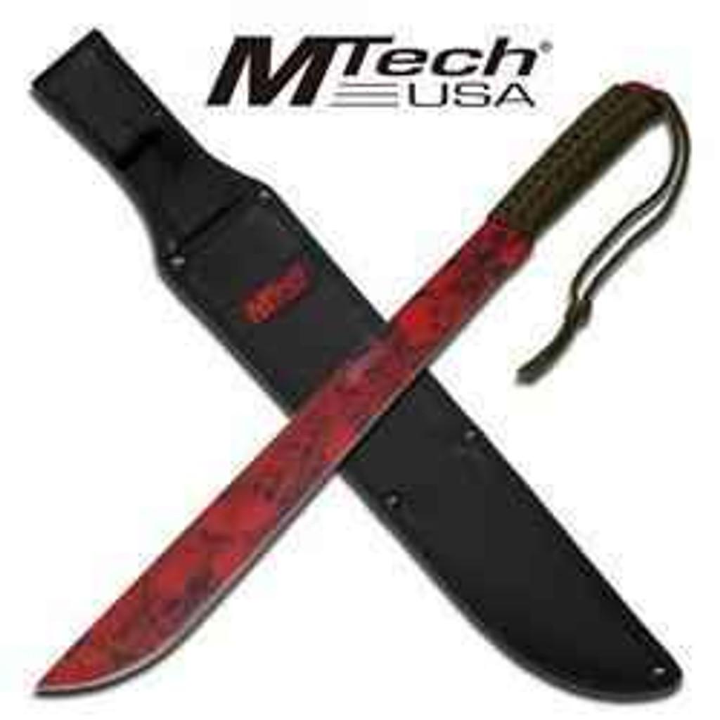 vendor-unknown M-Tech Skull Red Camo Machete