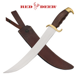 Knockout Knucks Red Deer Bowie Knife Wooden Handle 1