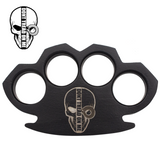 Knockout Knucks Dont Tread on Me Steam Punk Black Solid Steel Knuckles