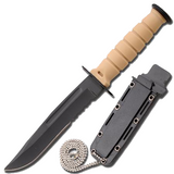 Knockout Knucks Tactical Camping Neck Knife with Sheath