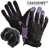 Purple Full Finger Sap Gloves w/ Steel Shot Knuckles - Medium