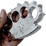 Irish Beater Real Brass Knuckles (Silver)