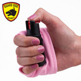 1/2 oz Pink Personal Defense Pepper Spray With Activewear Hand Sleeve