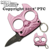 Brutus the Bulldog Defense Keychain and Knife - Pink