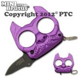 Brutus the Bulldog Defense Keychain and Knife - Purple