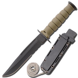 Knockout Knucks Tactical Camping Neck Knife with Sheath 1