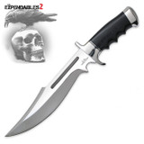 """<p><font size=""""3"""">Gil Hibben has a history of designing knives for Sylvester Stallone to feature in his films, going back to the Rambo III Bowie. Stallone commissioned Gil to make several knives to use in THE EXPENDABLES and THE EXPENDABLES 2. One of those was a never-before-produced, custom-designed Legionnaire Bowie. The Legionnaire offers a 9 1/2&quot; 7CR17 stainless steel blade with a mirror-polished<br /> finish. The handle is constructed of black micarta and is accented with a mirror-finished, solid stainless steel guard and pommel. Includes a classic leather belt sheath with stamped Hibben logo and a Certificate of Authenticity.</font></p> <p><font size=""""3"""">Overall Length :15&rdquo;<br /> Blade Material : 7CR17 Stainless Steel<br /> Handle Material : Micarta<br /> Sheath : Leather Belt Sheath</font></p>"""