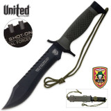 United Cutlery One Shot One Kill Survival Bowie and Sheath