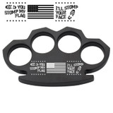 Stomp My Flag I Stomp Your Face Steam Punk Black Solid Metal Paper Weight