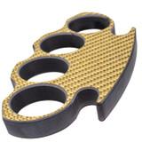 Gold Carbon Fiber Brass Knuckle