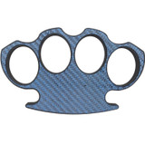 Blue Carbon Fiber Brass Knuckle