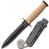 Knockout Knucks Tactical Camping Neck Mini Dagger with Sheath 1
