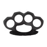 Knockout Knucks Steam Punk Solid Black Steel Brass Knuckles