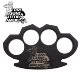 Knockout Knucks Guns, Titties and America- Steam Punk Black Knuckles