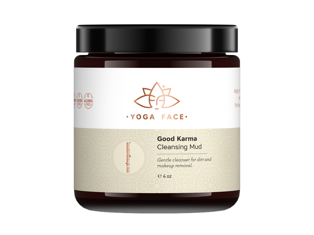 Good Karma Cleansing Mud is a radical fusion of oil cleansing, clay purification, facial massage, and micro-exfoliation.   Enjoy the wake up call of exotic Cardamom and Sweet Orange as you massage your skin, driving the qualities of the oils deep into the tissue as the clay draws out impurities.  This special formula nourshes while cleansing dirt and make-up from the skin.  Use morning and night for tightened pores and clean fresh hydrated skin.