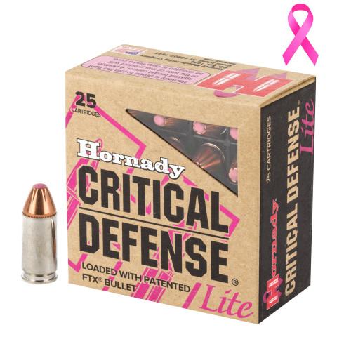 Hornady Critical Defense Lite 9mm Luger 100gr Flex Tip eXpanding 25/Box