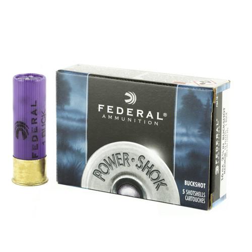 "Federal Premium Power-Shok 16ga 2-3/4"" Buffered #1 Buckshot 12 Pellets 5/Box"