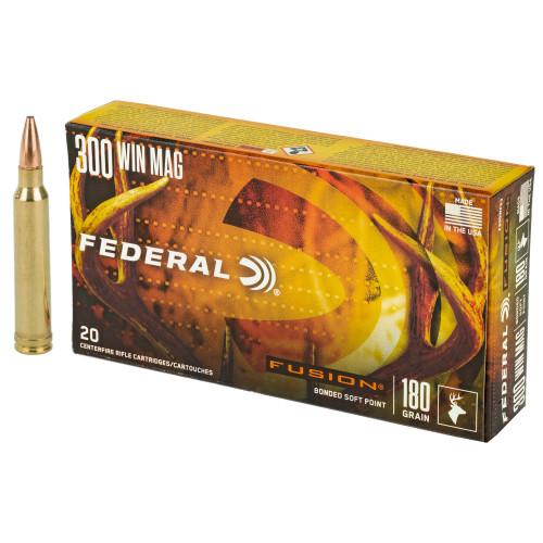 Federal Fusion .300 Winchester Magnum 180gr Spitzer Boat Tail 20/Box