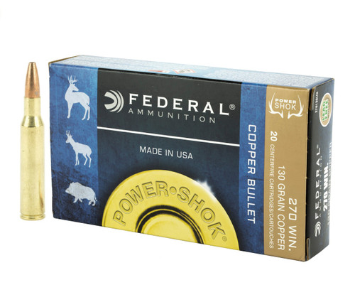 Federal Power-Shok .270 Winchester 130gr Copper Hollow Point Lead-Free 20/Box