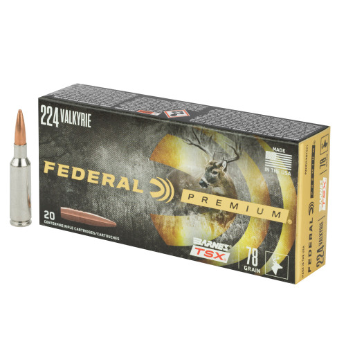 Federal Premium Triple Shock X .224 Valkyrie 78gr Barnes 20/Box