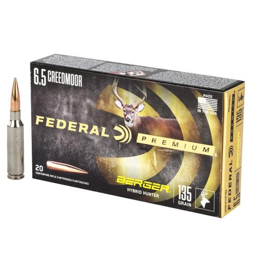 Federal Premium Berger Hybrid Hunter 6.5mm Creedmoor 135gr Open Tip Match 20/Box