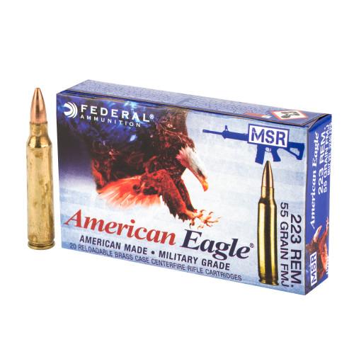 Federal American Eagle MSR .223 Remington 55gr Full Metal Jacket Boat Tail 20/Box
