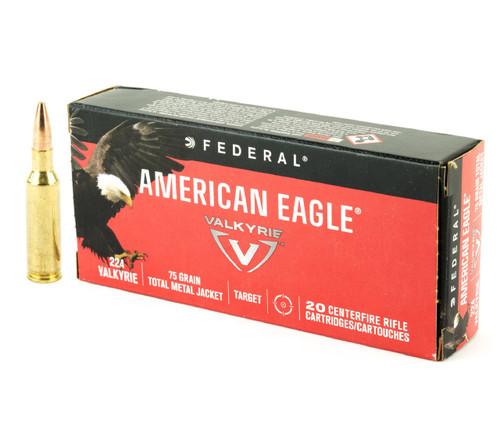 Federal American Eagle .224 Valkyrie Ammo 75gr Total Metal Jacket 20/Box