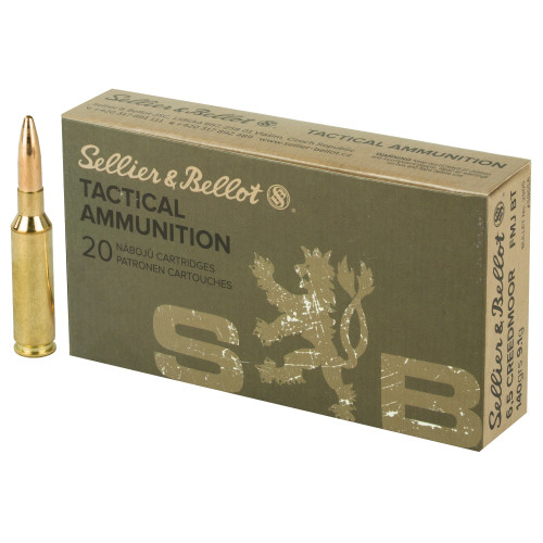 Brand: Sellier & Bellot Ammo   MPN: SB65A   Use: Target   Caliber: 6.5mm Creedmoor   Grain: 140   Bullet: Full Metal Jacket   MUNITIONS EXPRESS