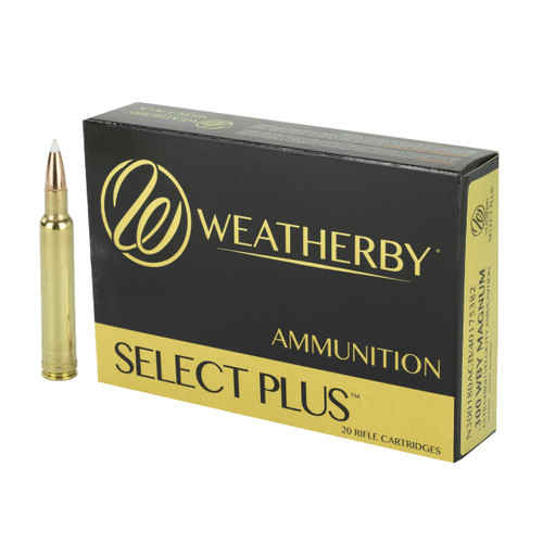 Brand: Weatherby Ammo | MPN: N300180ACB | Use: Hunting (Deer, Elk) | Caliber: .300 Weatherby Magnum | Grain: 180 | Bullet: Polymer Tip | MUNITIONS EXPRESS