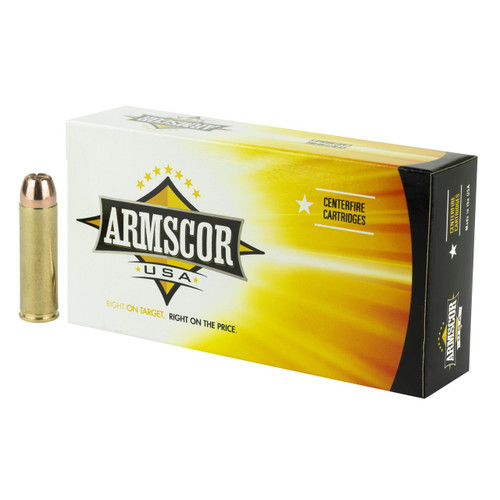 Brand: Armscor Ammo | MPN: FAC500SW-1N | Use: Hunting, Home Defense | Caliber: .500 S&W Magnum | Grain: 300 | Bullet: Jacketed Hollow Point | MUNITIONS EXPRESS