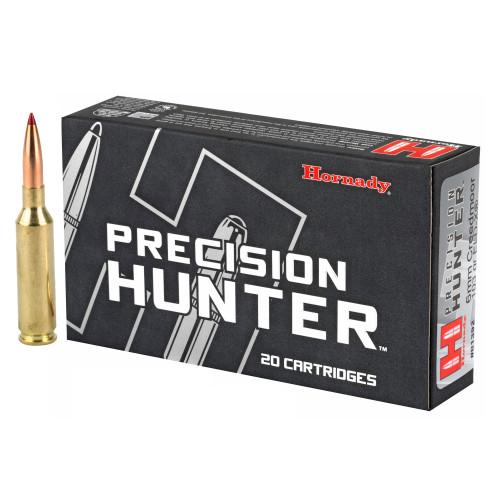 Brand: Hornady Ammo | MPN: 81392 | Use: Hunting (Coyotes, Deer) | Caliber: 6mm Creedmoor | Grain: 103 | Bullet: Polymer Tip | MUNITIONS EXPRESS