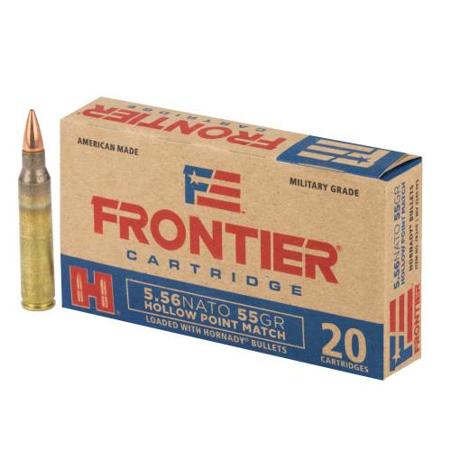 Frontier Cartridge Military Grade 5.56x45mm NATO 55gr Hornady Hollow Point Match 20/Box