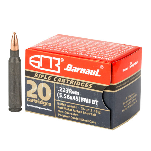 Barnaul .223 Remington 55gr Full Metal Jacket 20/Box