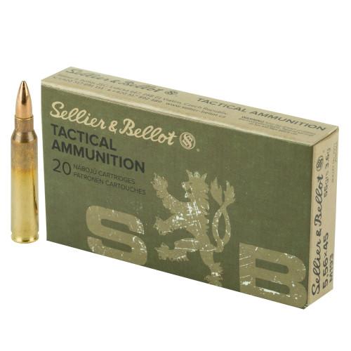 Sellier & Bellot 5.56x45mm NATO M193 55gr Full Metal Jacket 20/Box