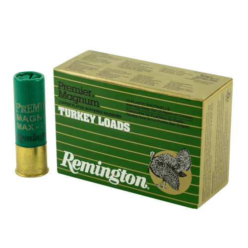 "Remington Premier Magnum Turkey 12 Gauge 3"" High Velocity 2 oz #5 Copper Plated Shot 10/Box"