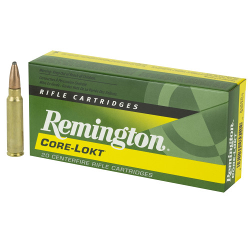 Brand: Remington Ammo | MPN: 21465 | Use: Hunting (Deer, Hogs) | Caliber: .300 Savage | Grain: 150 | Bullet: Jacketed Soft Point | MUNITIONS EXPRESS