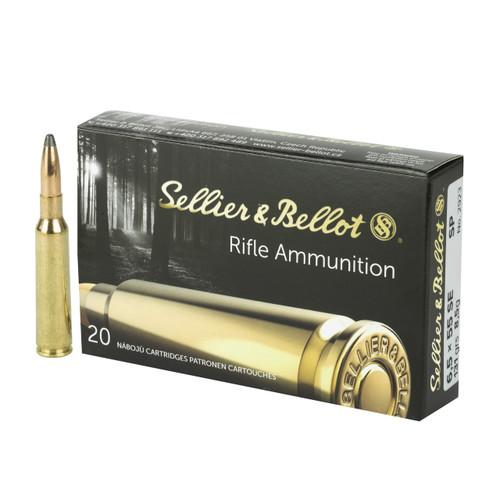 Brand: Sellier & Bellot Ammo | MPN: SB6555A | Use: Hunting (Deer) | Caliber: 6.5x55mm Swedish Mauser | Grain: 131 | Bullet: Jacketed Soft Point | MUNITIONS EXPRESS