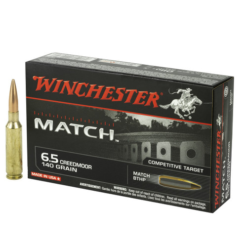 Winchester Match Competitive Target 6.5 Creedmoor 140gr MatchKing Hollow Point Boat Tail 20/Box