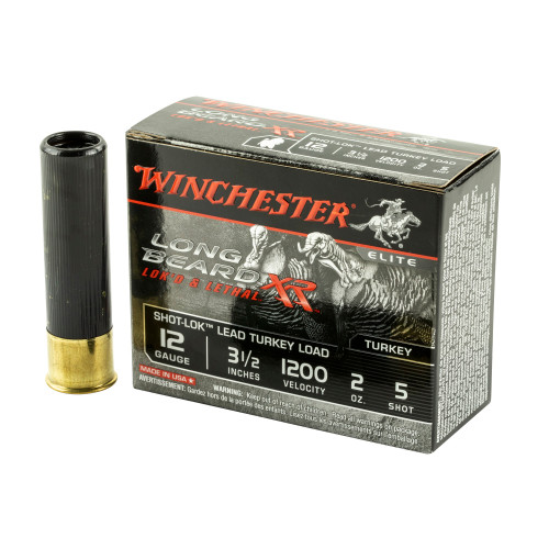 """Brand: Winchester Ammo   MPN: STLB12L5   Use: Hunting (Turkey)   Gauge: 12   Length: 3.5""""   Shot Size: #5   Shot Weight: 2 oz   MUNITIONS EXPRESS"""